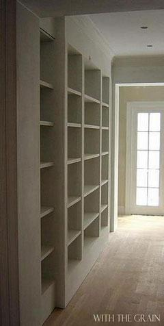 Dining room library built in.