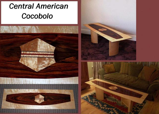Central American Cocabolo inlayed into curlymaple