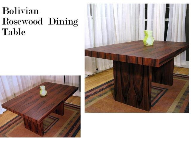 Bolivian rosewood dining table